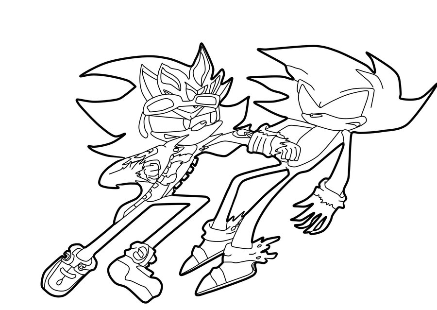 Desenho de Dark Sonic levando soco