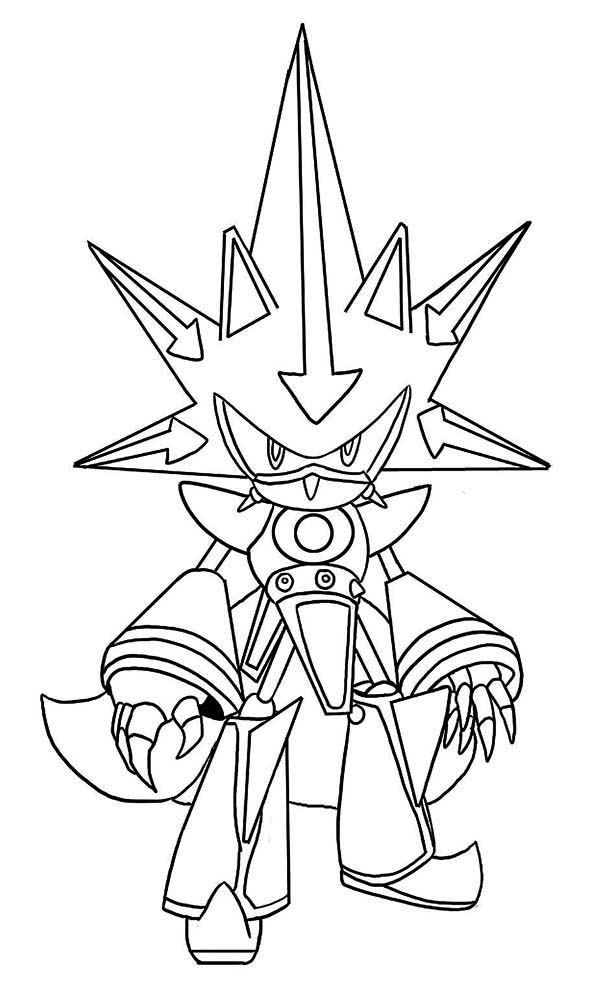 Desenho De Metal Sonic Armadura Para Colorir Tudodesenhos
