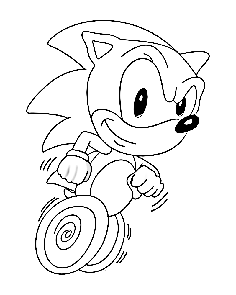Coloring Pages Sonic Blaze
