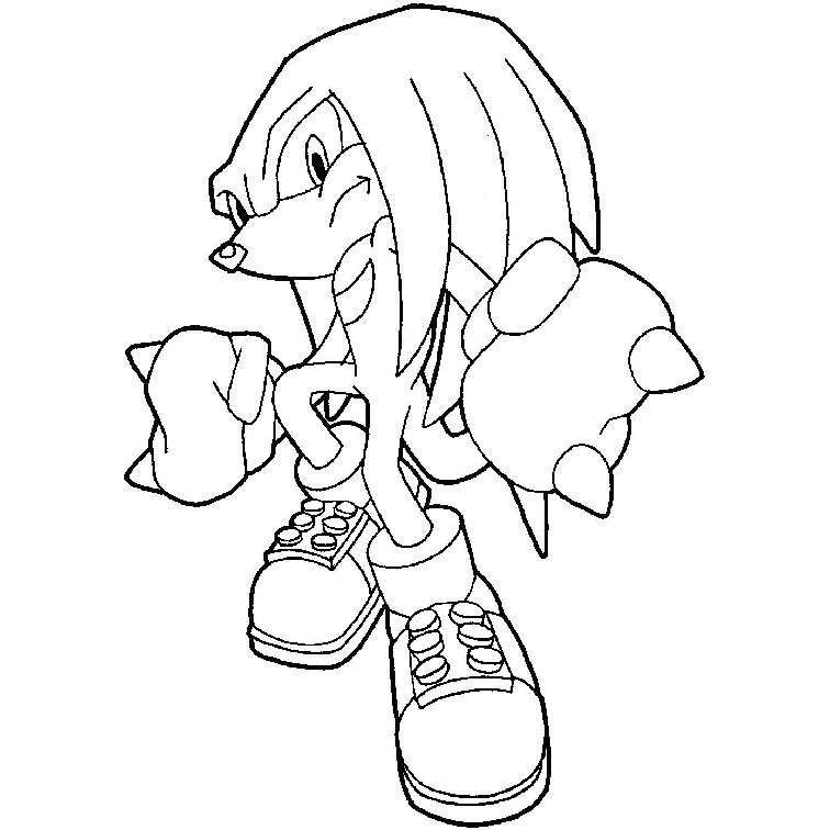 Desenho De Super Knuckles Para Colorir