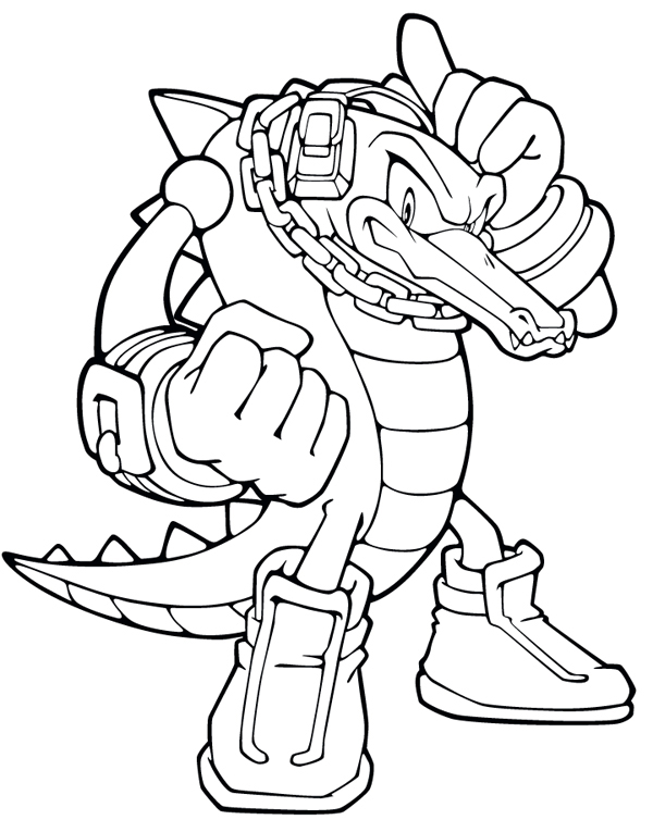 Desenho de vector the crocodile para colorir tudodesenhos - Coloriage a imprimer sonic ...