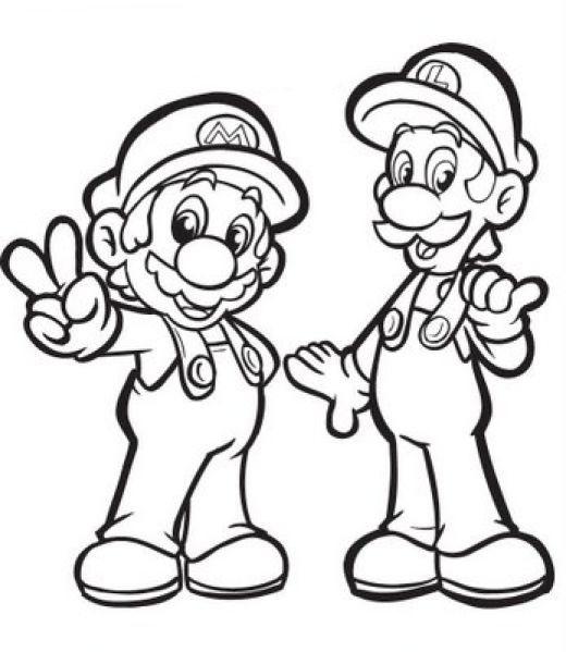 Desenho De Mario E Luigi Para Colorir