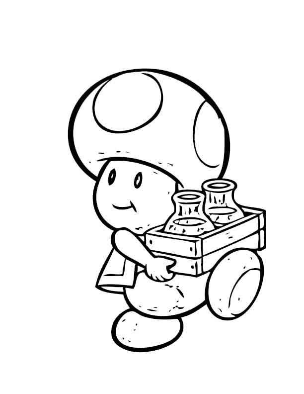 desenho de toald de mario bros para colorir