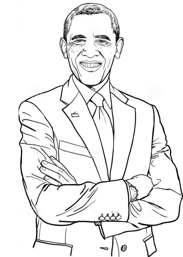 president obama coloring pages free - photo#30