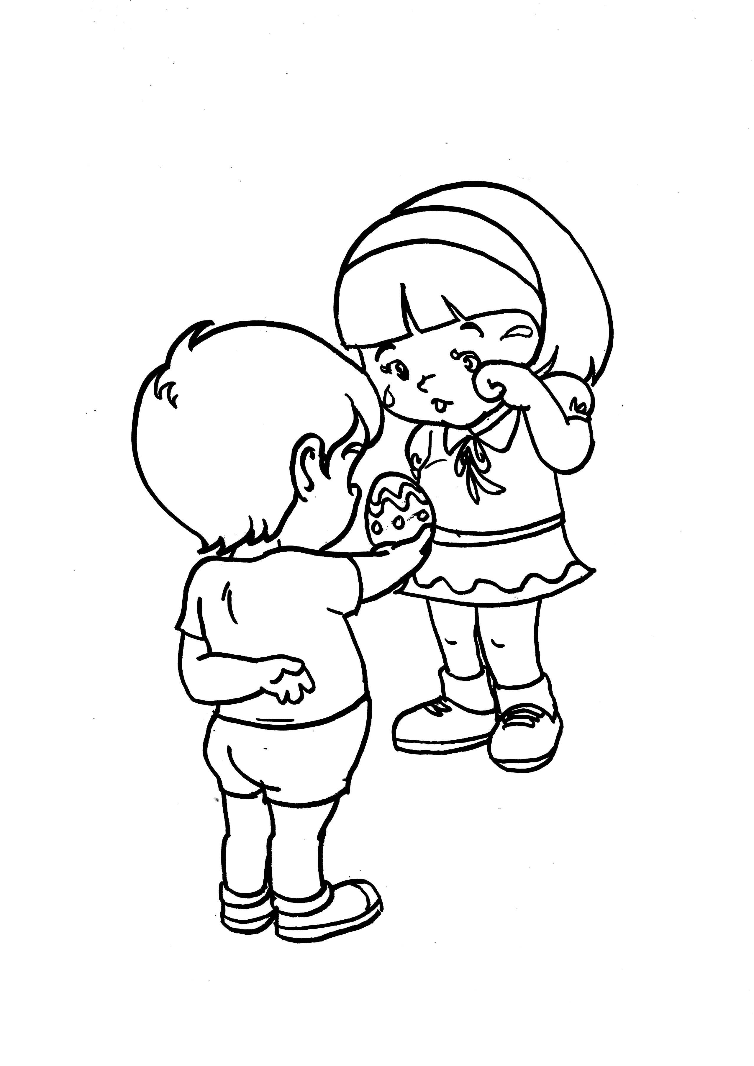 Desenho de amizade