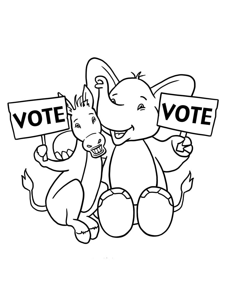 Voting Day Coloring Pages