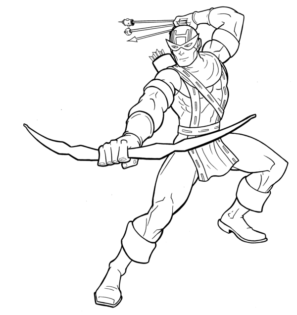 hawk guy coloring pages - photo#6