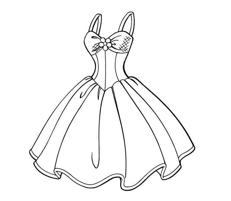 Desenho De Vestido De Festa Para Colorir Tudodesenhos