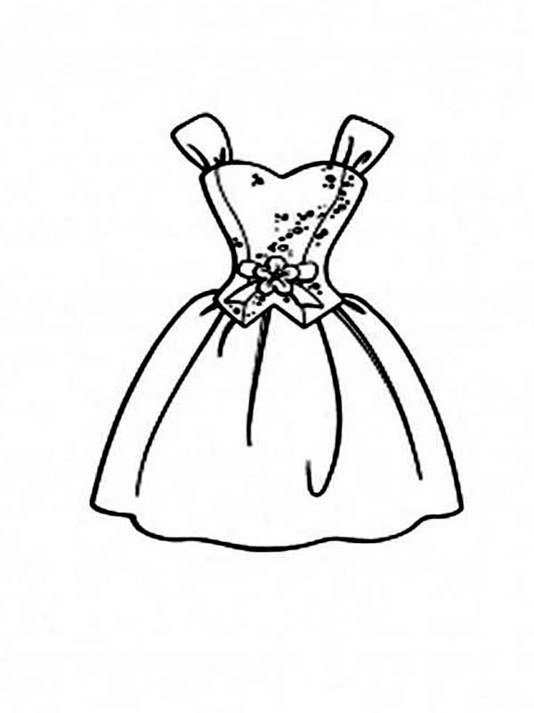 Desenho De Vestido De Princesa Para Colorir Tudodesenhos