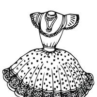 Desenhos De Vestidos Para Colorir Tudodesenhos