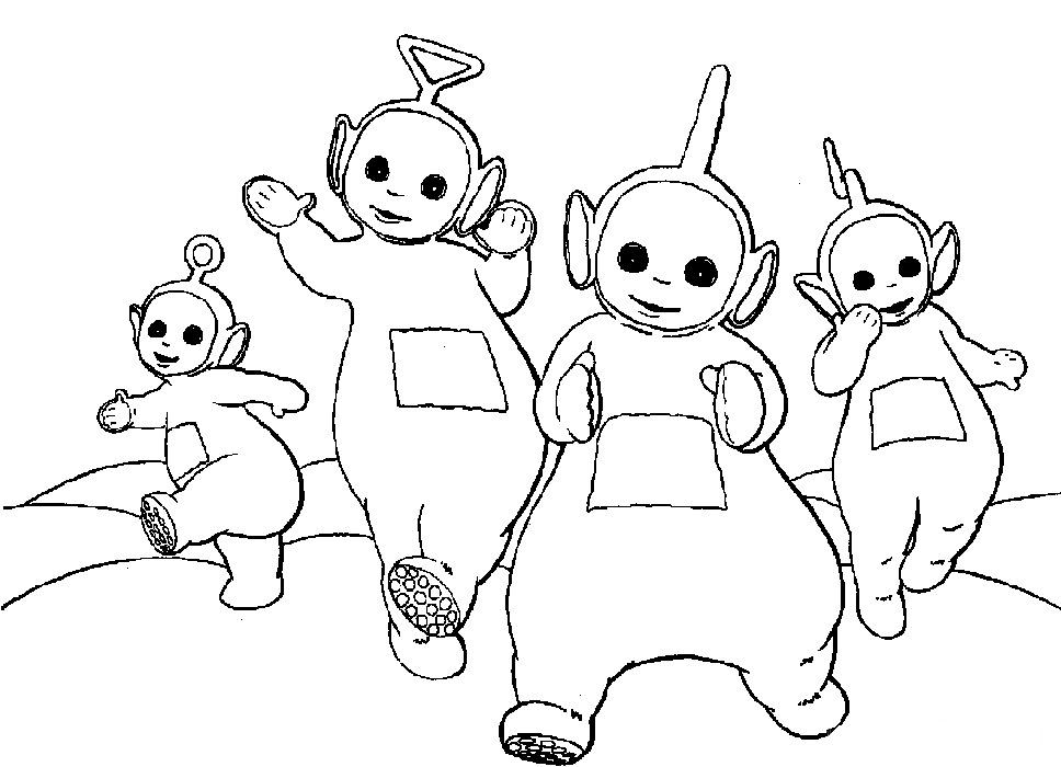 Desenho De Teletubbies Brincando Para Colorir Tudodesenhos