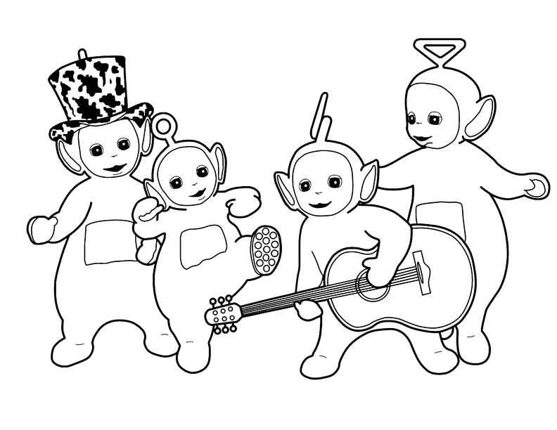 Desenho De Menino Tocando Violão Para Colorir