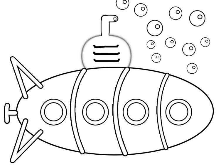 Submarino No Fundo Do Oceano on Worksheet For Preschool To Do