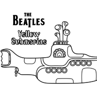 Desenho de The Beatles Yellow Submarine para colorir