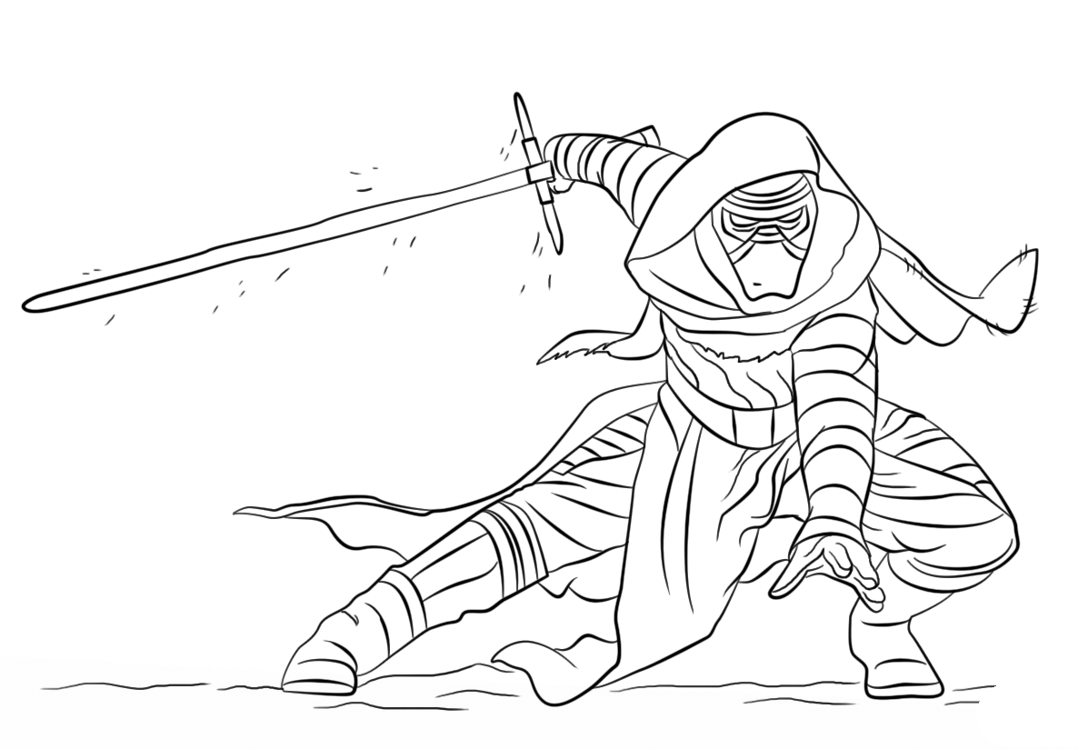 Coloring Pages Star Wars The Force Awakens Printable Cyrille