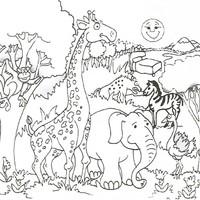 Desenho De Colorir Com Numeros Safari Para Colorir Tudodesenhos