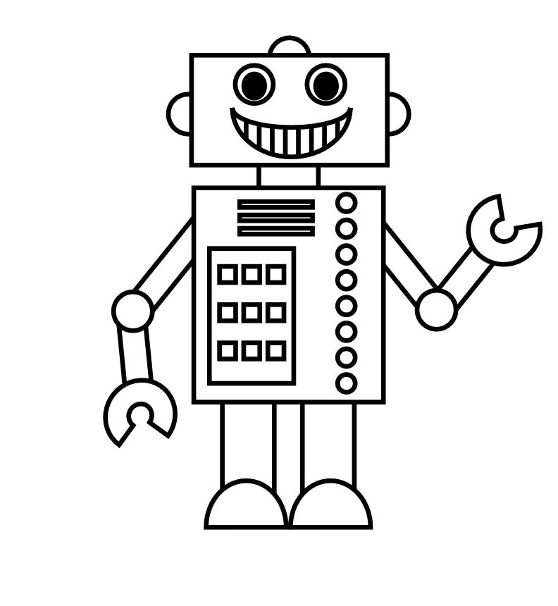 Desenho De Robo Sorrindo Para Colorir Tudodesenhos