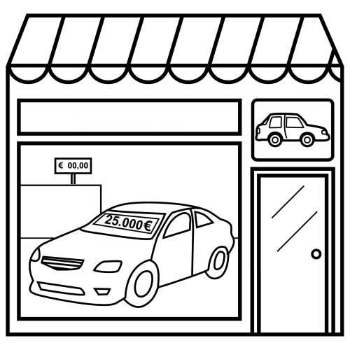 Desenho De Loja De Carros Para Colorir Tudodesenhos