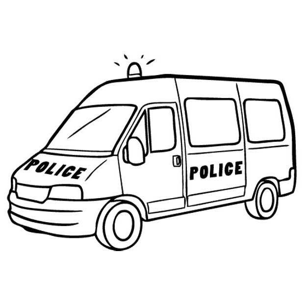 Desenho De Furgoneta Da Policia Para Colorir Tudodesenhos