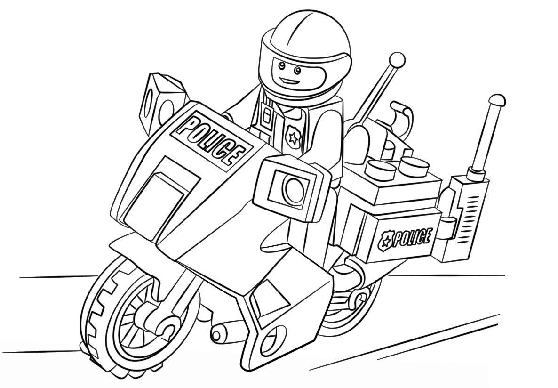 desenho de policial lego para colorir tudodesenhos