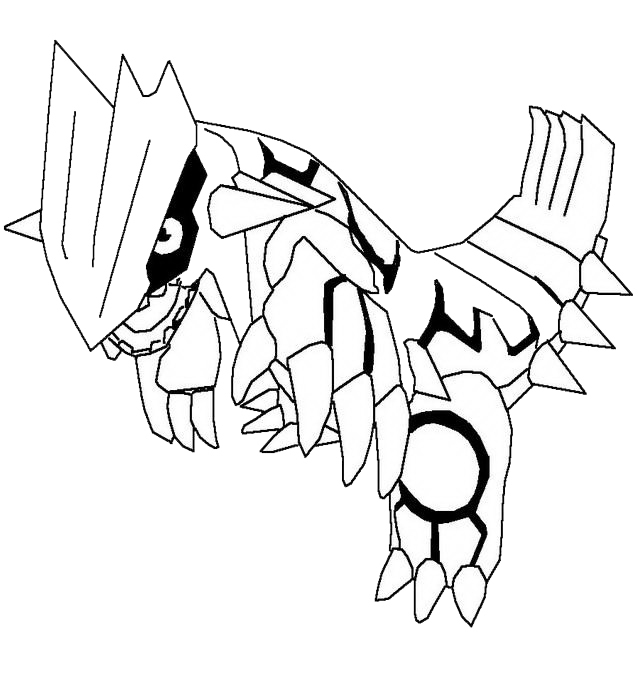 Pokemon Coloring Pages Primal Groudon