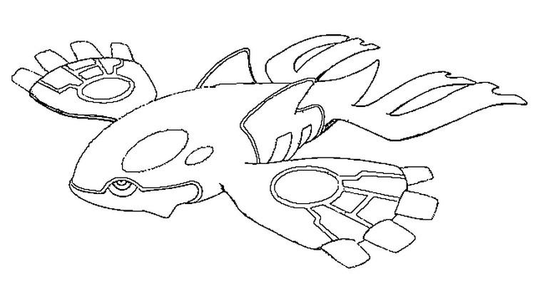 Desenho De Kyogre Pokemon Para Colorir Tudodesenhos