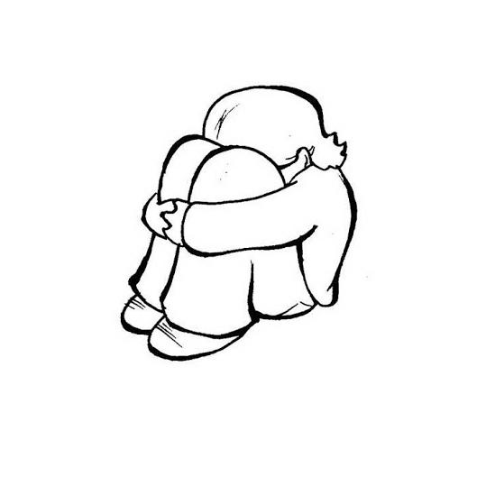 Desenho De Menina Triste Para Colorir Tudodesenhos