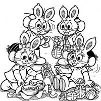 Desenho De Turma Da Monica Na Pascoa Para Colorir Tudodesenhos