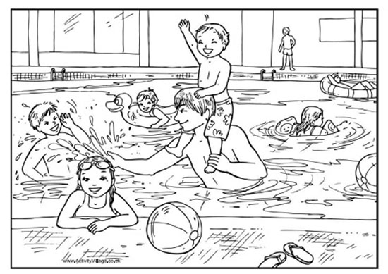 girl swimming coloring sheets pages - photo#22