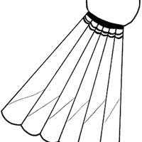 Desenho de Peteca para colorir - Tudodesenhos Badminton