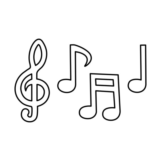 Well-known Desenho de Diversas notas musicais para colorir - Tudodesenhos RA07