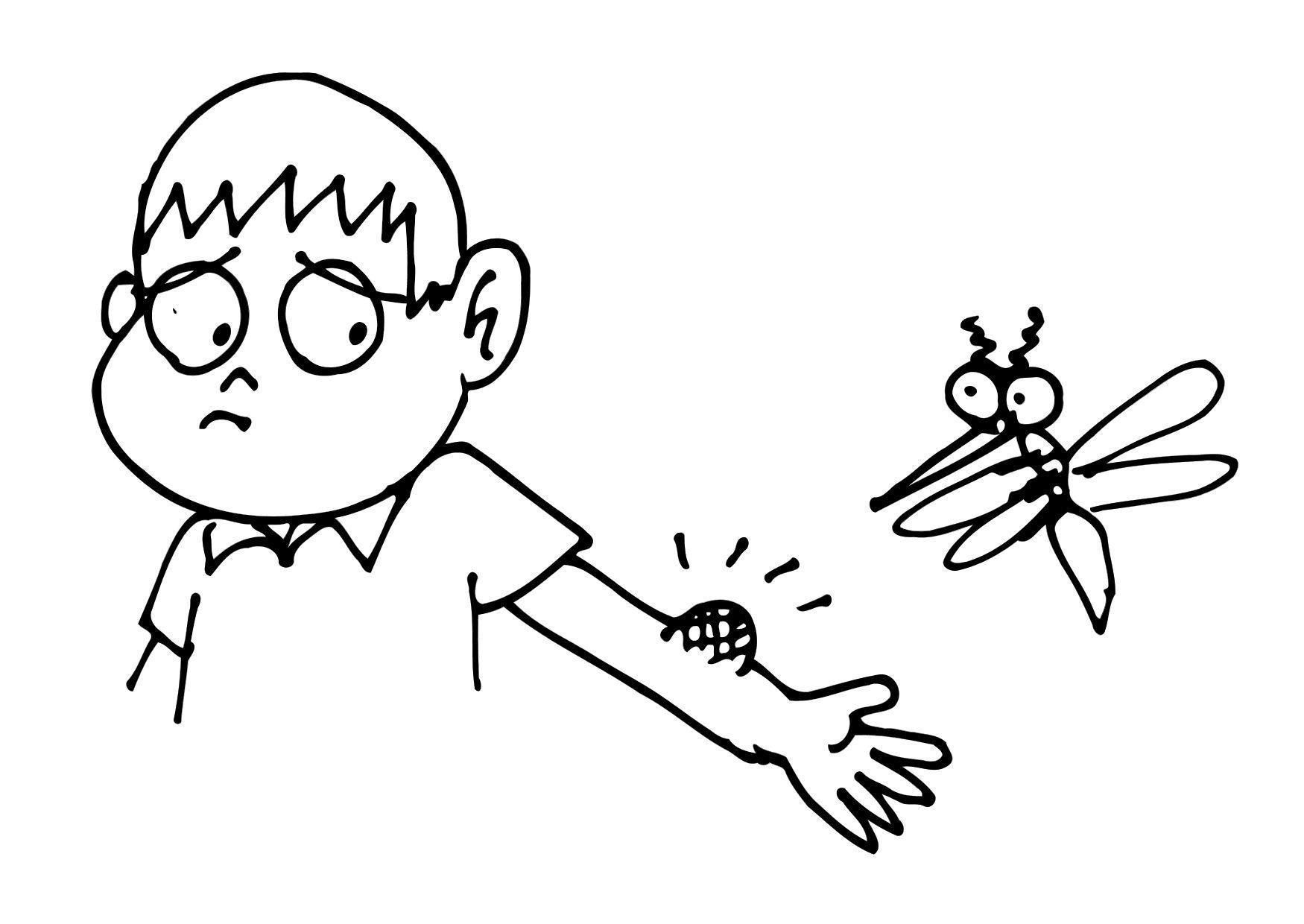 desenho de picada do mosquito da dengue para colorir tudodesenhos