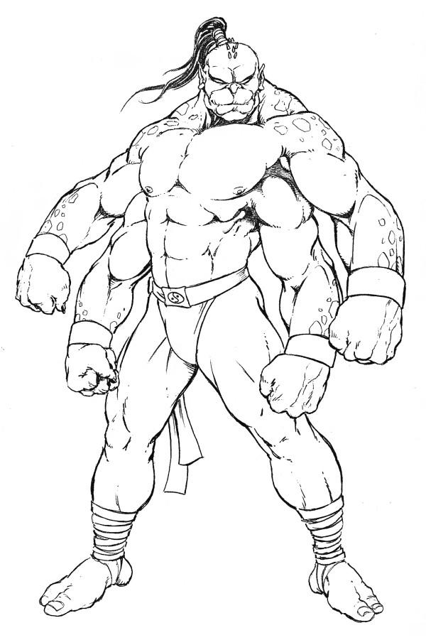 Desenho de Goro de Mortal Kombat para colorir - Tudodesenhos