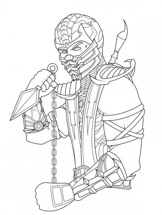 Desenho de Scorpion de Mortal Kombat para colorir - Tudodesenhos