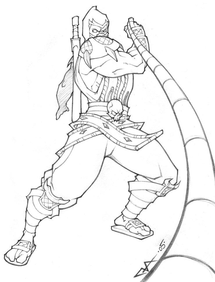 Desenhos de Mortal Kombat para colorir - Tudodesenhos