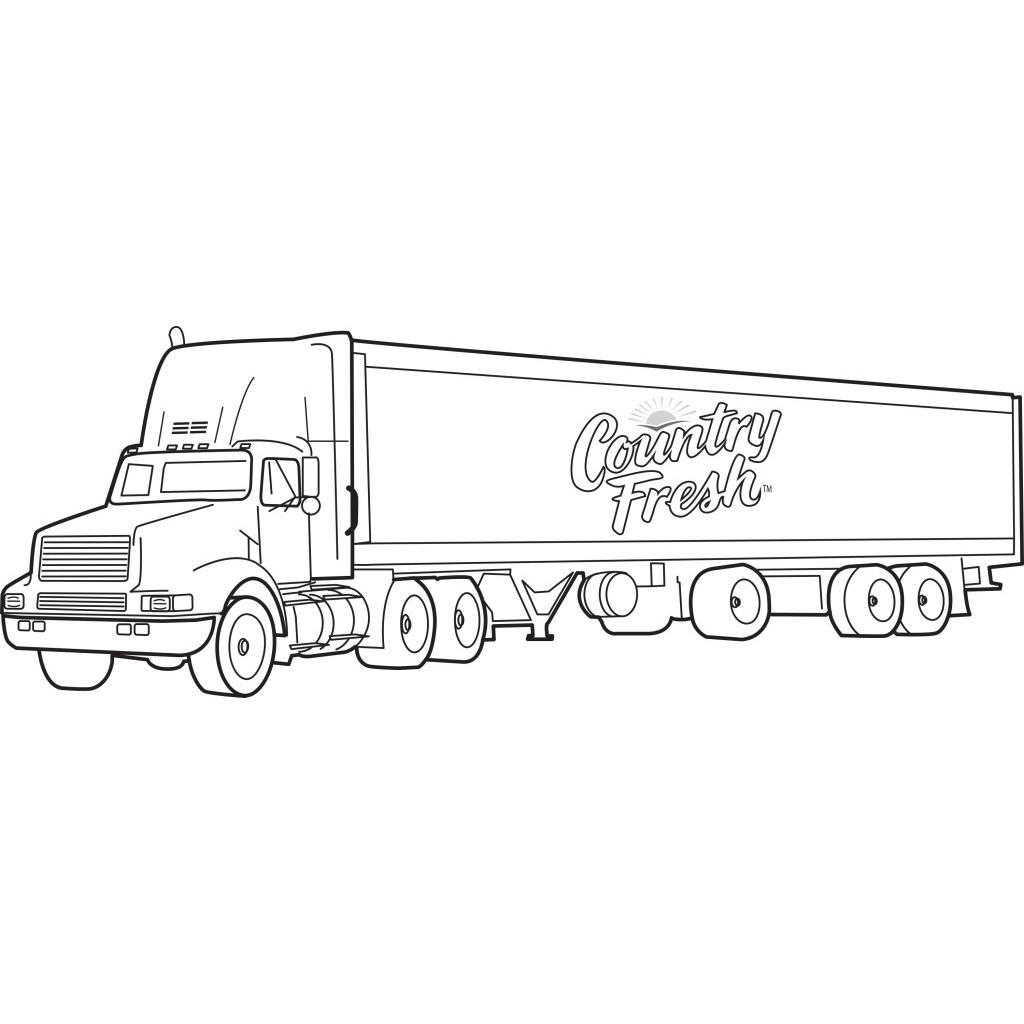 Desenho De Caminhão De Bebidas Para Colorir