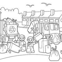 Desenho De Lixo Reciclado Para Plasticos Para Colorir Tudodesenhos
