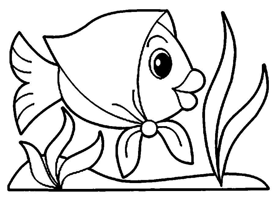 Desenho De Peixinho Com Lenco Para Colorir Tudodesenhos