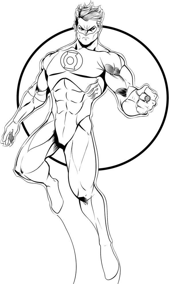 Desenho de Lanterna Verde Marvel para colorir - Tudodesenhos