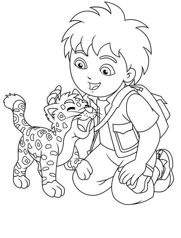 Desenho De Diego E Oncinha Para Colorir Tudodesenhos