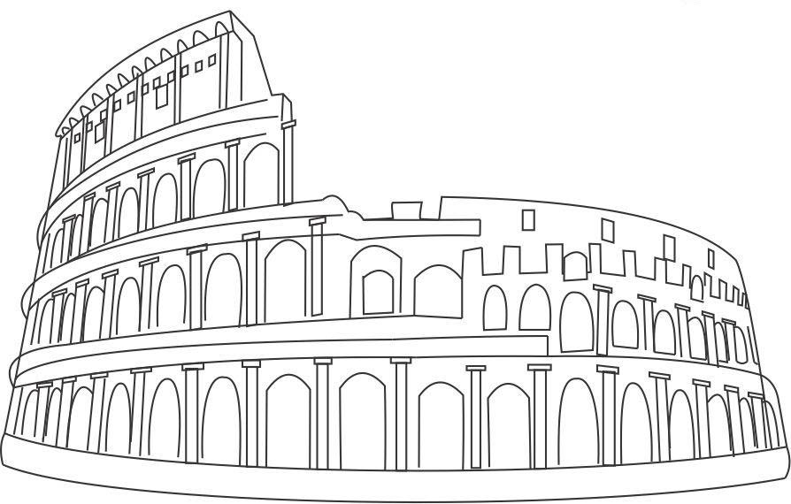 ancient roman coloring pages - photo#35