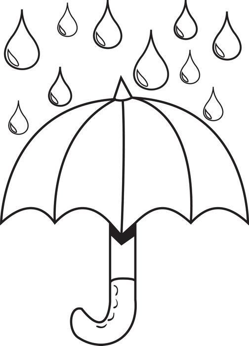Desenho De Gotas De Chuva Para Colorir Tudodesenhos