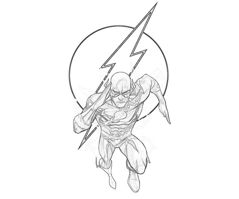 desenho de the flash e sua velocidade para colorir tudodesenhos