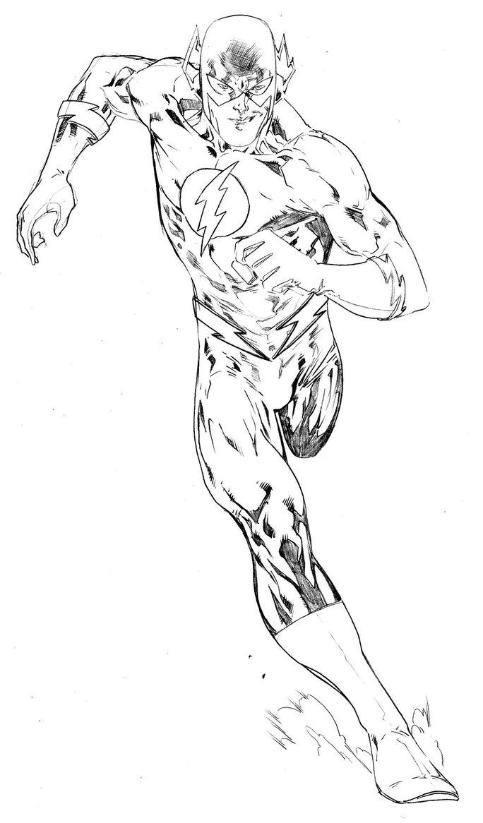 Desenho de the flash her i para colorir tudodesenhos for Flash da colorare