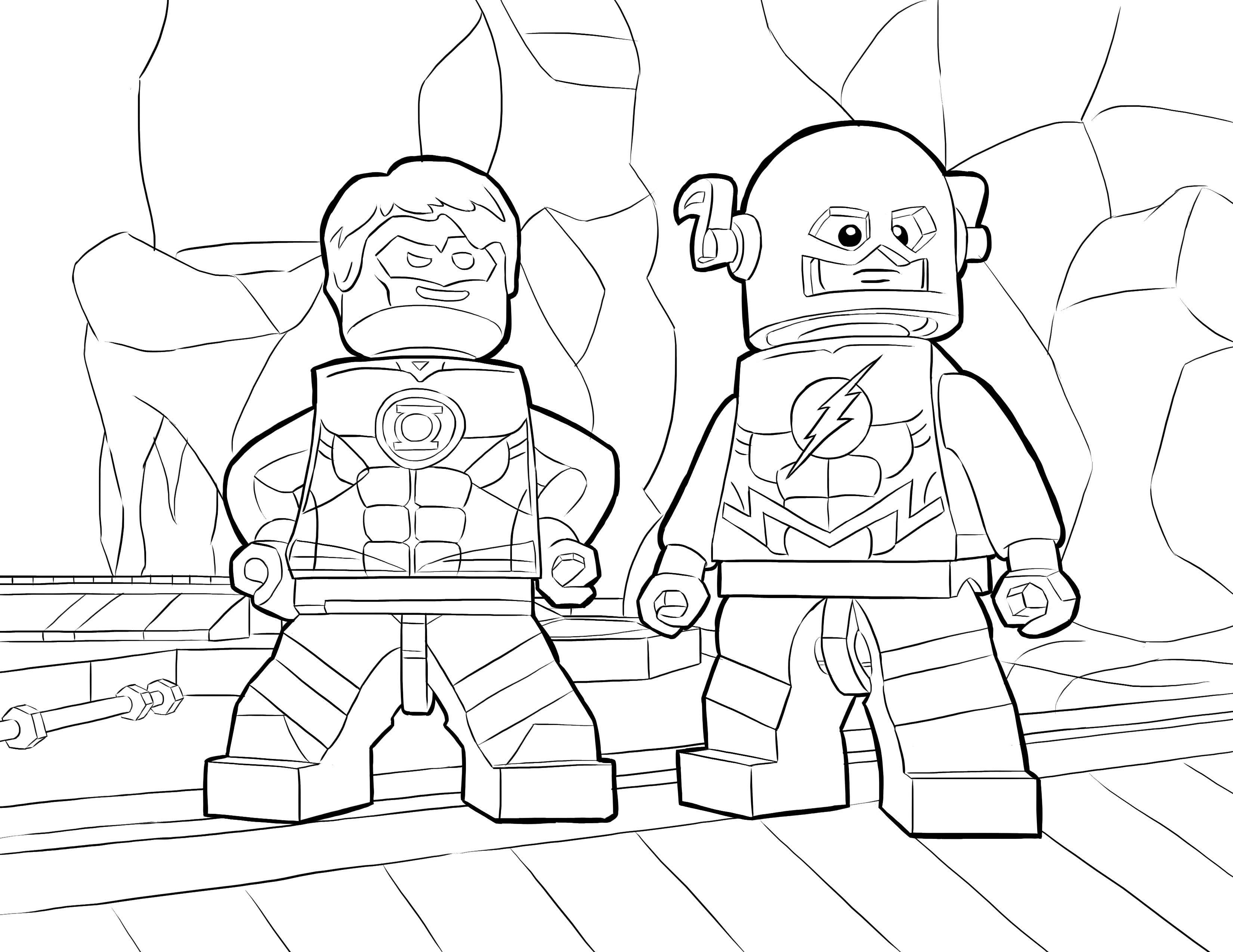 Desenho De The Flash Lego Para Colorir Tudodesenhos