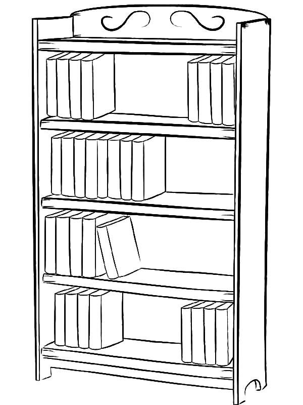 Desenho de Estante de livros para