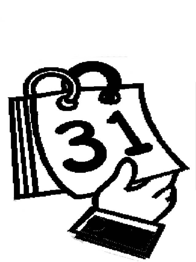 Desenho De Calendario De Folhinha Para Colorir Tudodesenhos