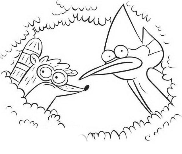 desenho de mordecai e rigby para colorir tudodesenhos