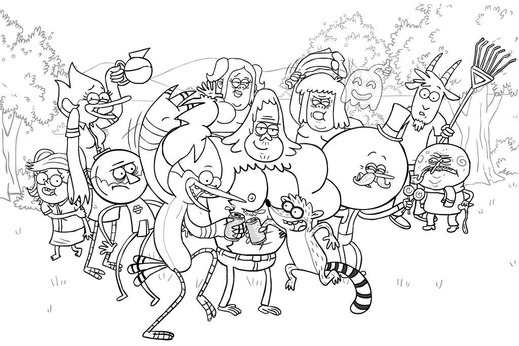 desenho de personagens de apenas um show para colorir tudodesenhos