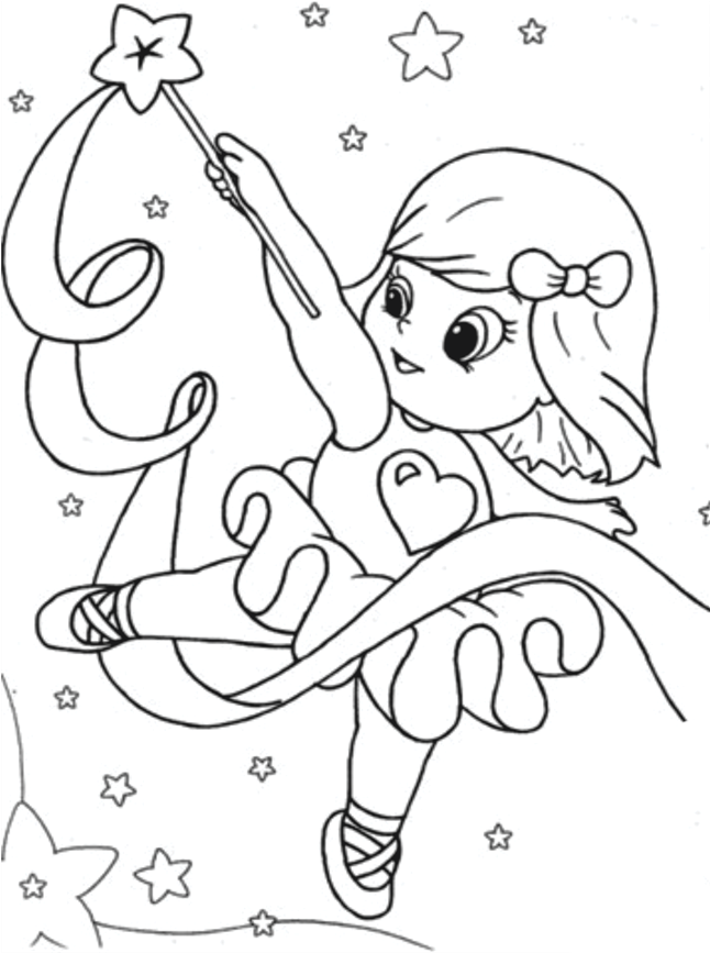 Desenho De Bailarina Fazendo Malabarismo Para Colorir